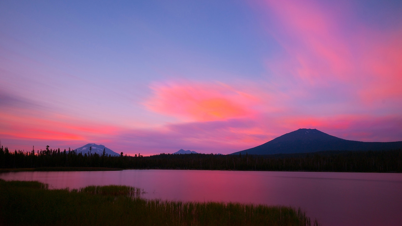 Sunset, Lava Lake, Oregon