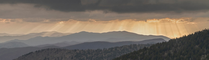 Sun Rays, Clingmans Dome, Smoky Mountains
