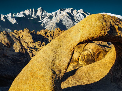 Mt Whitney from Mobius Arch