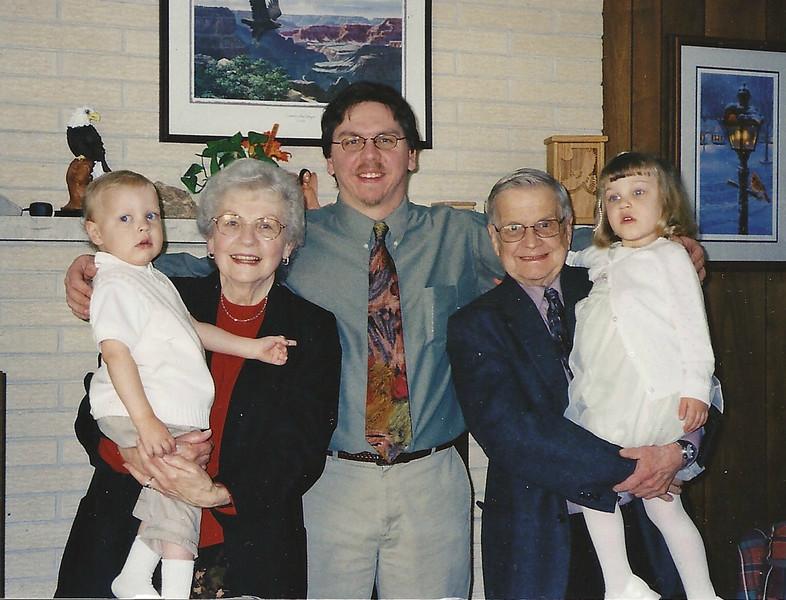 Albert, Mom, Rob, Dad, Claire