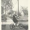 Elizabeth on the neighbors bike