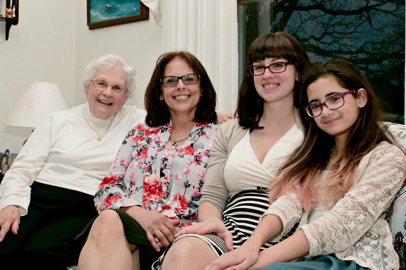 Mom, Vicky (daughter), Michelle (granddaughter), Eden (great granddaughter)