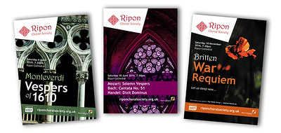 Ripon Choral Society programmes