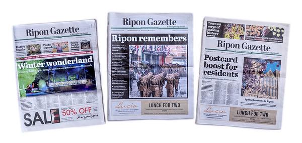 Ripon Gazette cover features