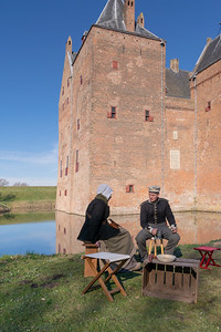 A chat near the castle