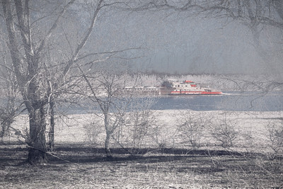Snowy river boat