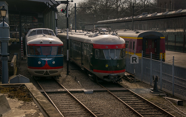 Trains at station