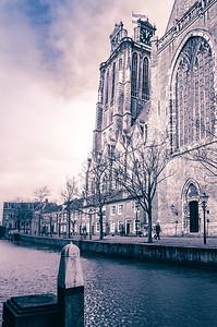 Church near waterway