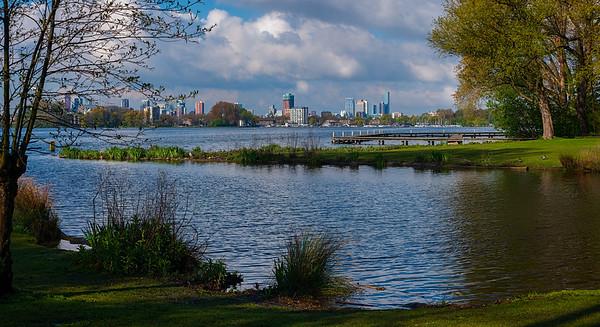 Rotterdam from Kralingse Plas