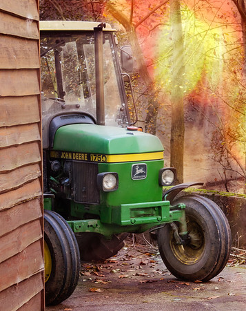 Tractor in autumn