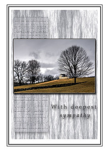 With Deepest Sympathy - Tree - Greeting Card