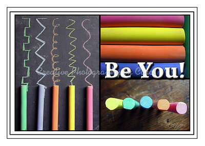 Be You with Chalk - Greeting Card
