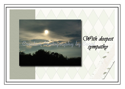 With Deepest Sympathy - Sun - Greeting Card