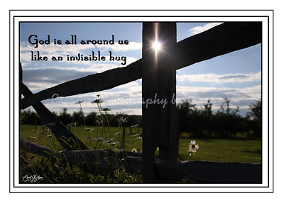 God is All Around Us - Greeting Card