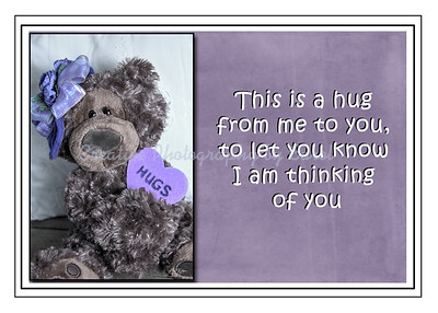 Hug from me to you - Greeting card