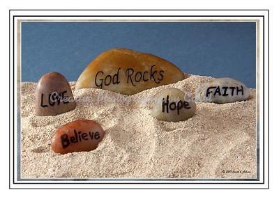 God Rocks - Greeting Card