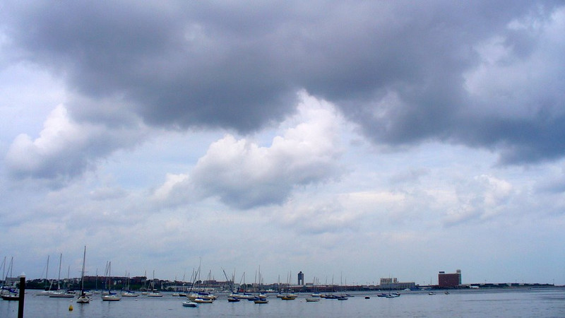 Logan Airport, with sky by John Constable
