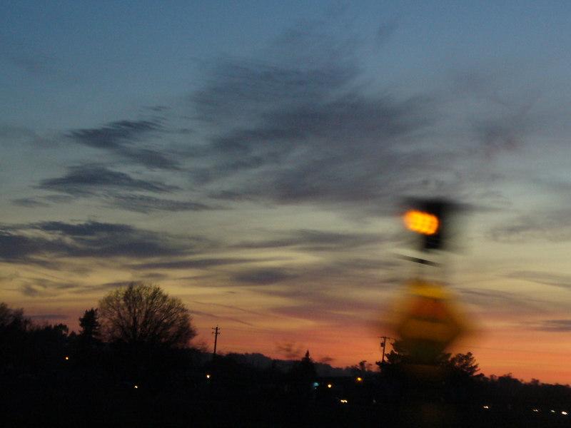 Heading toward Occidental CA, 6pm