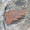 Section marker on the climb