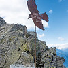 Top marker of the Kleine Ifinger peak