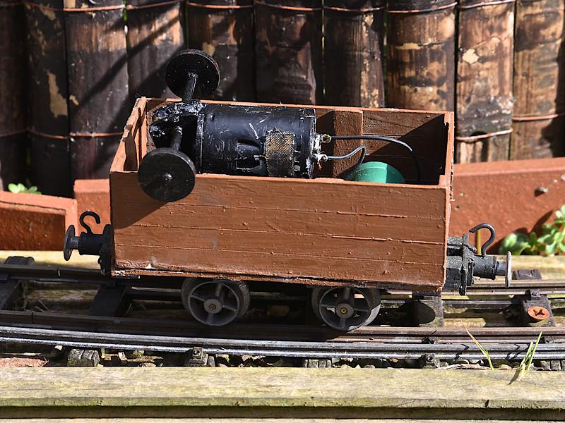 A scratch-built pump wagon