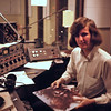 Howard Black at the OWU low-power radio station holding, of course, a Hendrix album.