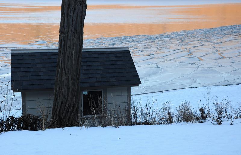 Canandaigua Lake frozen #2, Woodville NY.