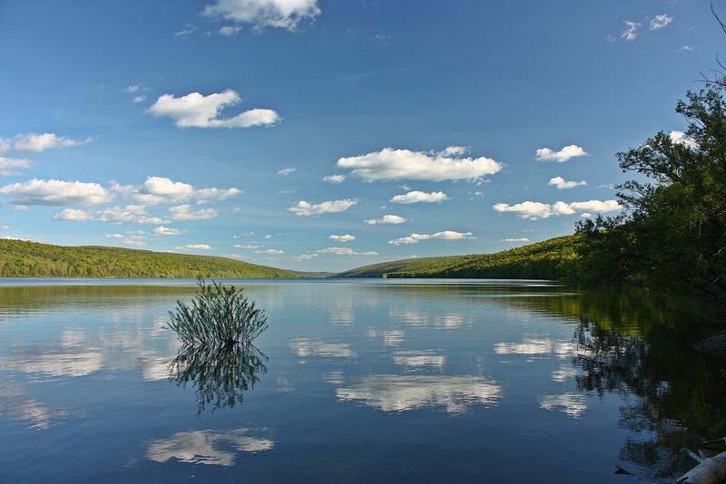 Hemlock Lake reflections in Spring.