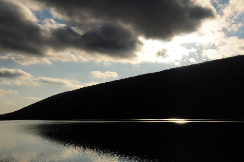 Canadice Lake reflections near sunset.