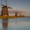 End of the day in Kinderdijk