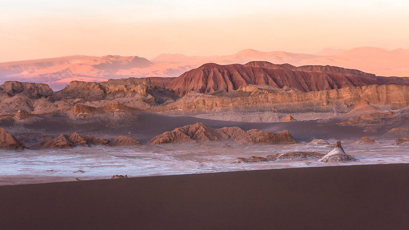 End of the day at Valle de la Luna