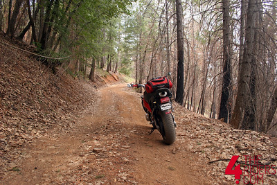 headed down some random dirt road.