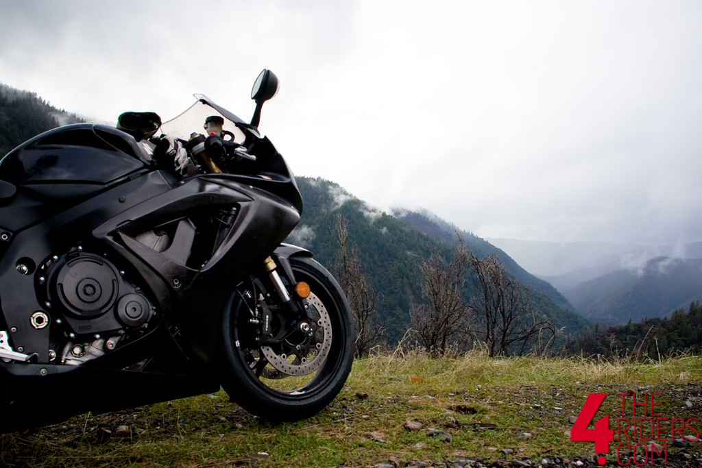 gsxr on the hillside with fog