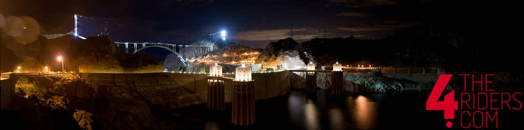 hoover dam panoramic shot