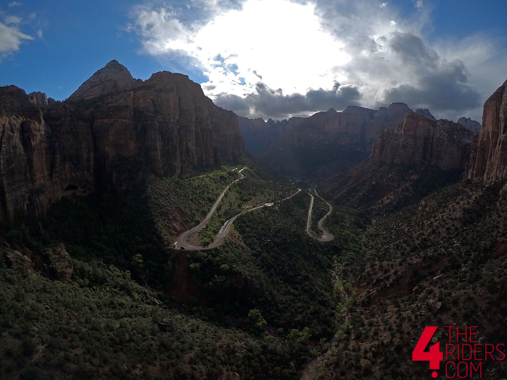 zion national park utah drone