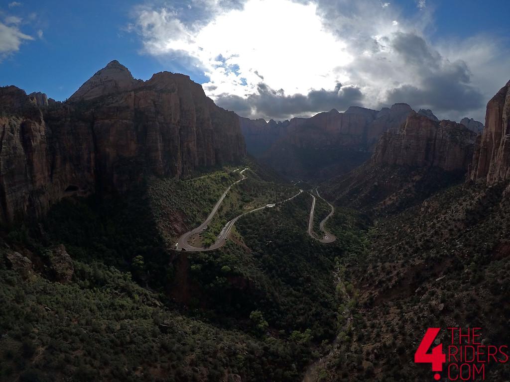 zion national park utah drone