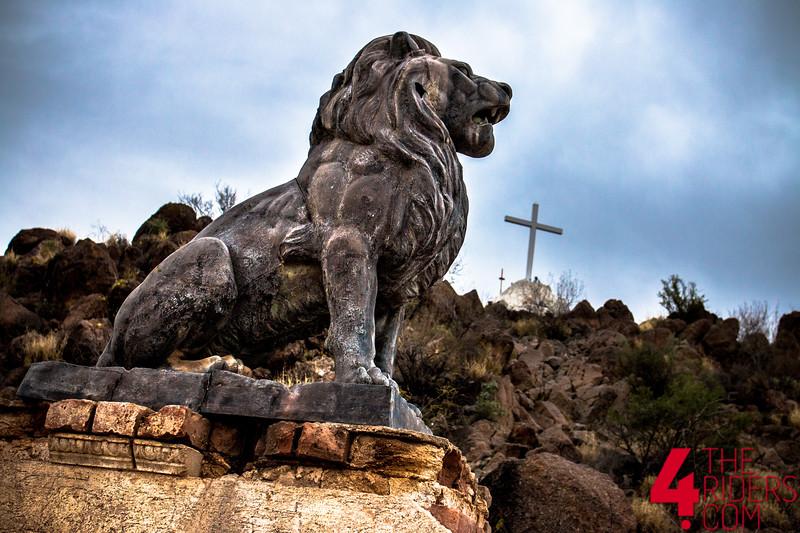 lion statue san xavier