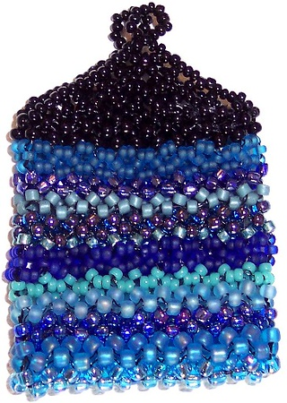 Quarter Bag - blue variety seedbeads 11/0