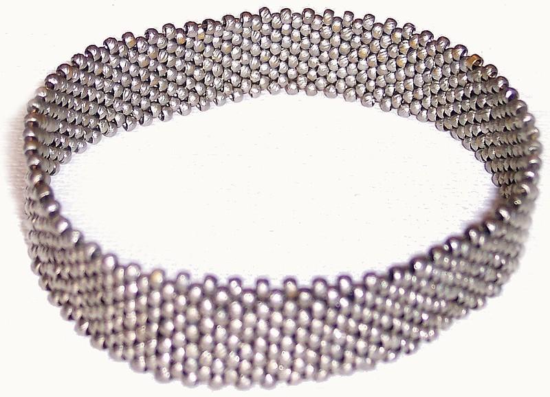 Steel bracelette - Steel seedbeads - 10/0