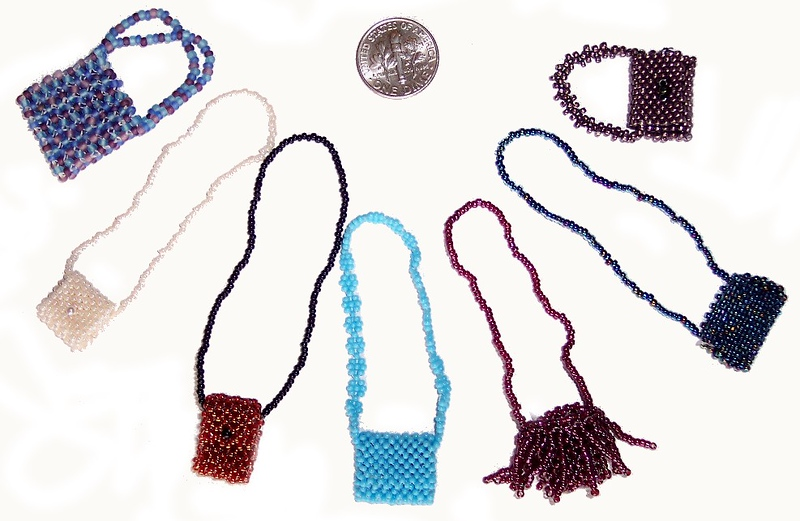 Doll (Dime) Bags - variety seedbeads; range from 15/0 - 11/0