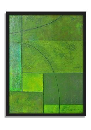"""Spring Green"" - Acrylic on canvas - (80 cm x 60 cm)"