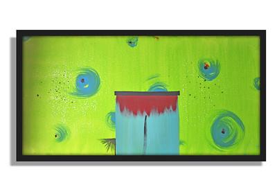 """Foster's Home"" - Acrylic on canvas - (80 cm x 40 cm)"