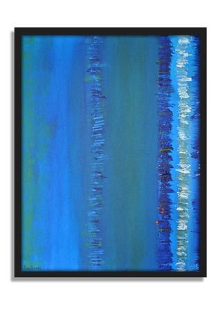 """""""Blue"""" - Acrylic on canvas - (80 cm x 60 cm)"""