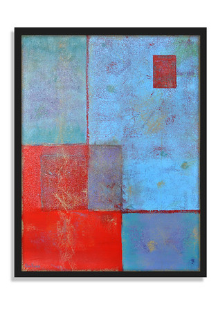 """Chalk Stamp"" - Acrylic on canvas - (80 cm x 60 cm) *** SOLD ***"