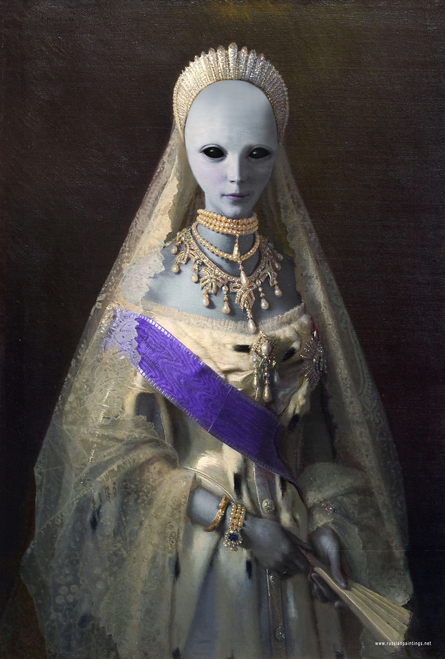 Revision based on a portrait of Russian Empress Maria Fedorovna painted by artist Ivan Kramskoy