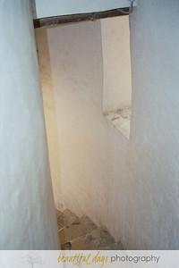 Stairs in the round church of Sveti Donata in Zadar, Croatia.