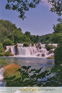 Waterfalls in Krka National Park, Croatia.