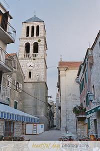 Main square in Vodice, Croatia.