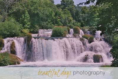 Waterfalls in Krka National Park, Croatia.
