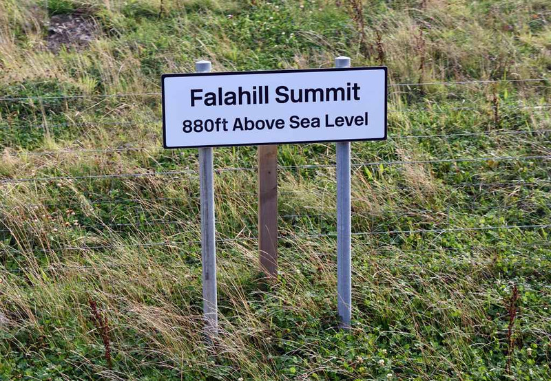 Passing Falahill summit, Sun 25 September 2016 - 1030.  18 miles from Waverley.  There had been an unexplained halt shortly before the summit.
